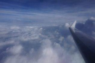 Das Sauwetter ließen wir unter den Wolken in Deutschland ...